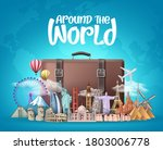 travel around the world vector...   Shutterstock .eps vector #1803006778