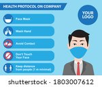 health protocol working on... | Shutterstock .eps vector #1803007612