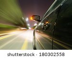 car on the road with motion... | Shutterstock . vector #180302558