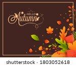 illustration of colorful maple... | Shutterstock .eps vector #1803052618