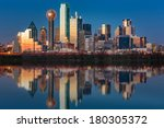 dallas skyline reflected in... | Shutterstock . vector #180305372