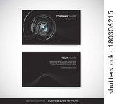 business card template   Shutterstock .eps vector #180306215
