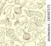 simple doodle seamless pattern... | Shutterstock .eps vector #180307172