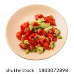 vegetarian salad with cucumbers ...