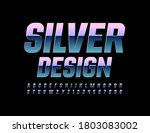 vector silver design alphabet... | Shutterstock .eps vector #1803083002