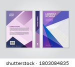 annual report book cover... | Shutterstock .eps vector #1803084835