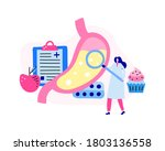 tiny woman doctor character... | Shutterstock .eps vector #1803136558
