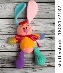 Colorful Bunny Doll With Flapp...