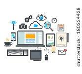vector flat design modern... | Shutterstock .eps vector #180324428