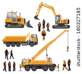 construction machines and... | Shutterstock .eps vector #180327185