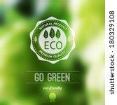 vector blurred landscape  eco... | Shutterstock .eps vector #180329108