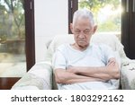 asian elderly man sleep on his... | Shutterstock . vector #1803292162