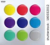 vector set of colorful glossy... | Shutterstock .eps vector #180332012