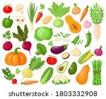 cartoon vegetables. vegan... | Shutterstock .eps vector #1803332908
