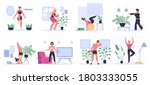 fitness at home. people... | Shutterstock .eps vector #1803333055