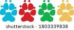 four dog paws vector...   Shutterstock .eps vector #1803339838