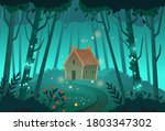 old mystic witch hut in the... | Shutterstock .eps vector #1803347302
