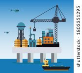 offshore oil rig vector... | Shutterstock .eps vector #1803351295