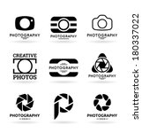 vector icons for photographers  ... | Shutterstock .eps vector #180337022