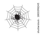 spider web and spider on a... | Shutterstock .eps vector #1803398245