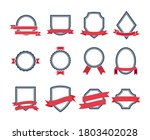 badges or labels in flat style  ... | Shutterstock .eps vector #1803402028