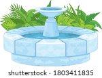 Magic Fountain On White...