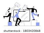 concept of online voting ...   Shutterstock .eps vector #1803420868