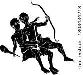 silhouette illustration of the...   Shutterstock .eps vector #1803434218