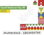 saudi national day 2020 ... | Shutterstock .eps vector #1803454795