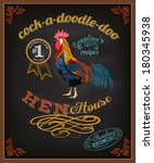 chalkboard poster for chicken... | Shutterstock .eps vector #180345938