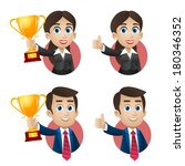 concept business people success ... | Shutterstock .eps vector #180346352