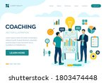 coaching and mentoring concept. ... | Shutterstock .eps vector #1803474448