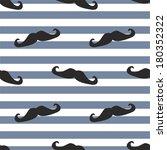 Seamless Mustache Vector...