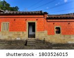 Old House With Red Brick...