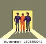 two police lead prisoner...