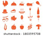 Set Of Thanksgiving Icons....