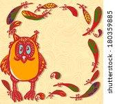 owl  frame  | Shutterstock .eps vector #180359885