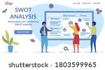swot analysis flat vector... | Shutterstock .eps vector #1803599965