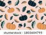 cute autumn seamless pattern....   Shutterstock .eps vector #1803604795