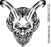 the illustration of the demons... | Shutterstock .eps vector #1803612112
