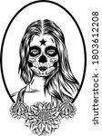 the tattoo illustration of a... | Shutterstock .eps vector #1803612208