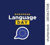 european day of language vector ...   Shutterstock .eps vector #1803617038