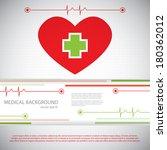 abstract medical cardiology ekg ... | Shutterstock .eps vector #180362012