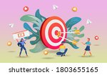shopping online concept with... | Shutterstock .eps vector #1803655165
