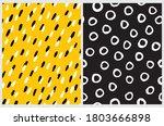 irregular hand drawn dots and...   Shutterstock .eps vector #1803666898