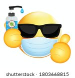 high quality emoticon on white...   Shutterstock .eps vector #1803668815