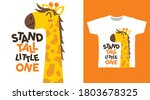 cute giraffe cartoon... | Shutterstock .eps vector #1803678325