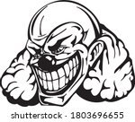 clown art concept vector drawn...   Shutterstock .eps vector #1803696655