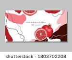 half a ripe pomegranate....   Shutterstock .eps vector #1803702208