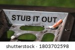 Stub It Out   Close Up Of A...